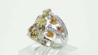 Pt900K18 ダイヤモンド リング