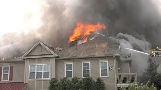 3rd ALARM at apartment building fire in Upper Macungie, PA.