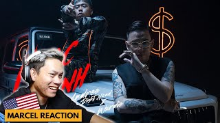 🔥 FAN BOY REACTS Andree Right Hand - NHẠC ANH ft. Wxrdie | Marcel Reaction