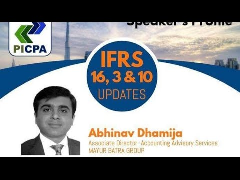 IFRS 16 UPDATES 2019 | PICPA Dubai | Mayur Batra Group - Associate Director