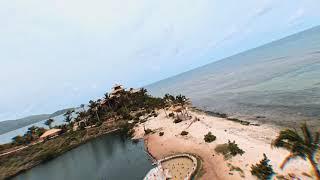 Dji FPV drone on tropical island