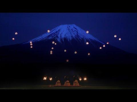 hqdefault - Una coreografía de drones, con el monte Fuji de fondo y a ritmo del shamisen