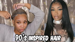 90'S INSPIRED LAYERD HAIR | FULL LACE WIG INSTALL | AALIYAHJAY by Ms Aaliyah Jay