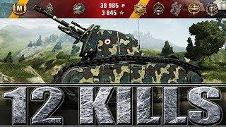ИМБАНУТАЯ АРТА 12 ФРАГОВ WOT 105 leFH18B2 🌟🌟🌟 World of Tanks лучший бой на арте.