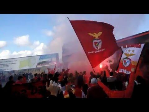 V  Setúbal x Benfica Chegada do autocarro Estádio do Bonfim em Setúbal