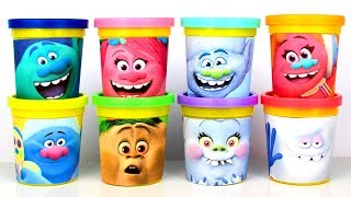 Play Doh Surprise Toys Dreamworks Trolls Surprises with Poppy Branch Bergens Guy Diamond for Kids
