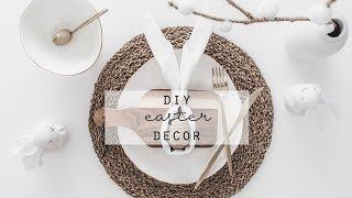 DIY Easter Table Setting | Napkin Bunny Rabbits | Easter Table Centrepiece