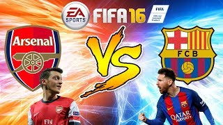 FIFA 16 - Barcelona vs Arsenal | Full HD Hindi Gameplay *Legendary Difficulty!*