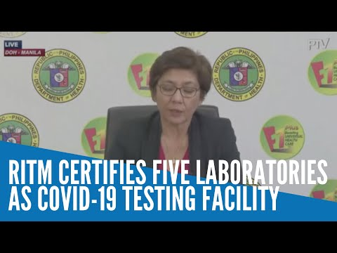 [Inquirer]  RITM certifies five laboratories as COVID-19 sub-laboratory