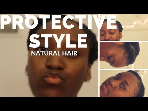 Quick and easy protective style for short natural hair!