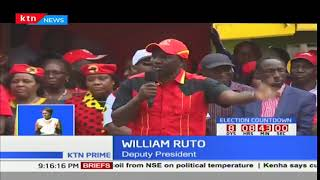 DP William Ruto sends a stern warning against anyone planning to disrupt October 26th polls