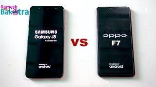 Samsung Galaxy J8 vs Oppo F7 SpeedTest and Camera Comparison