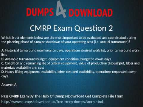 How To Pass CMRP Exam In First Atempt - YouTube