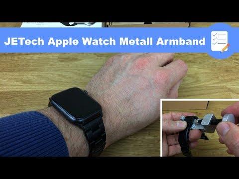 Apple Watch Series 4 - Band aus Edelstahl (Gliederarmband) für 15 € - Jtech (deutsch)