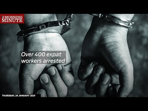 Over 400 expat workers arrested
