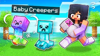 We ADOPTED Baby Creepers In Minecraft!
