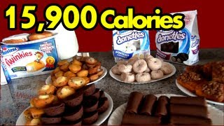 """""""The Sweetest Food Challenge in the History of Ever"""" (Hostess Snack Challenge)   Matt Stonie"""