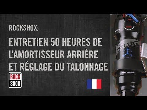 RockShox : entretien 50 heures de l'amortisseur arrière et réglage du talonnage