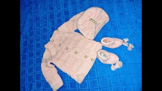 Easy to make sweater set for new born baby  Part 1|Sweater design|Unique sweater set for small baby