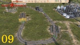 """Workers & Resources Soviet Republic 09 """"Wir bauen eine Eisenbahnverbindung"""" Let's Play Deutsch"""