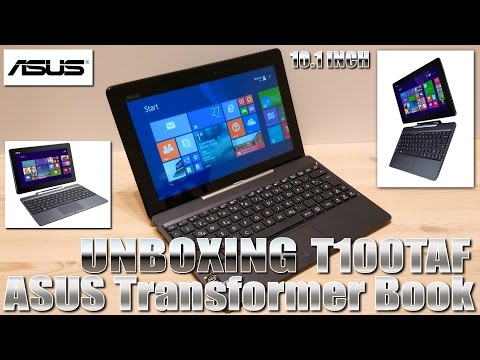 ASUS Transformer Book T100TAF [UNBOXING] Intel Atom Z3735G QuadCore 1.8Ghz