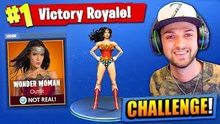 "The ""WONDER WOMAN"" CHALLENGE in Fortnite: Battle Royale!"