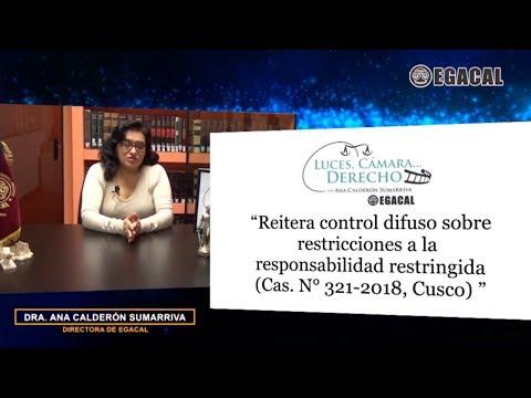 REITERA CONTROL DIFUSO SOBRE RESTRICCIONES A RESPONSABILIDAD RESTRINGIDA– Luces Cámara 139