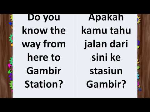 Learn English And Indonesian Phrases / Belajar Ungkapan Bahasa Inggris Dan Bahasa Indonesia