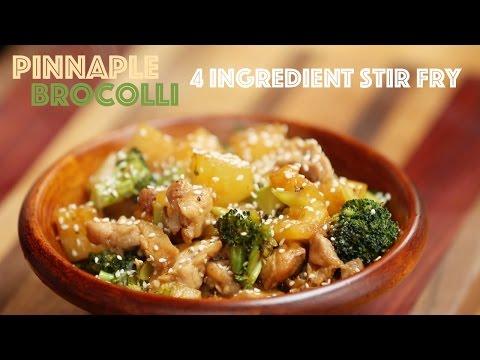 4 Ingredient Chicken Broccoli Pineapple Stir Fry for Meghan Trainor