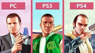 Grand Theft Auto 5 / GTA 5 – PC vs. PS3 vs. PS4 Graphics Comparison [60fps][FullHD|1080p]
