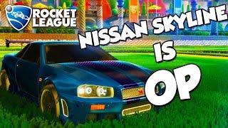 '99 Nissan Skyline GT-R R34 is OP | Rocket League Montage