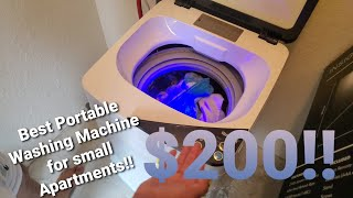 Giantex/Costway Portable Washing Machine (Review and Tutorial) FOR TINY HOUSE, COLLEGE DORMS, RVs!!