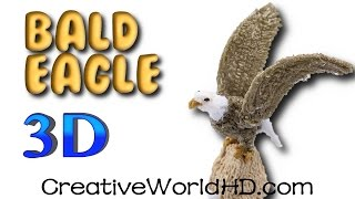How to Make Bald Eagle Statue - 3D Printing Pen Scribbler DIY Tutorial/Creative World