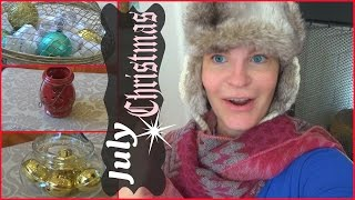 "Thrift Haul- mini ""Christmas in July"" + decor tips."