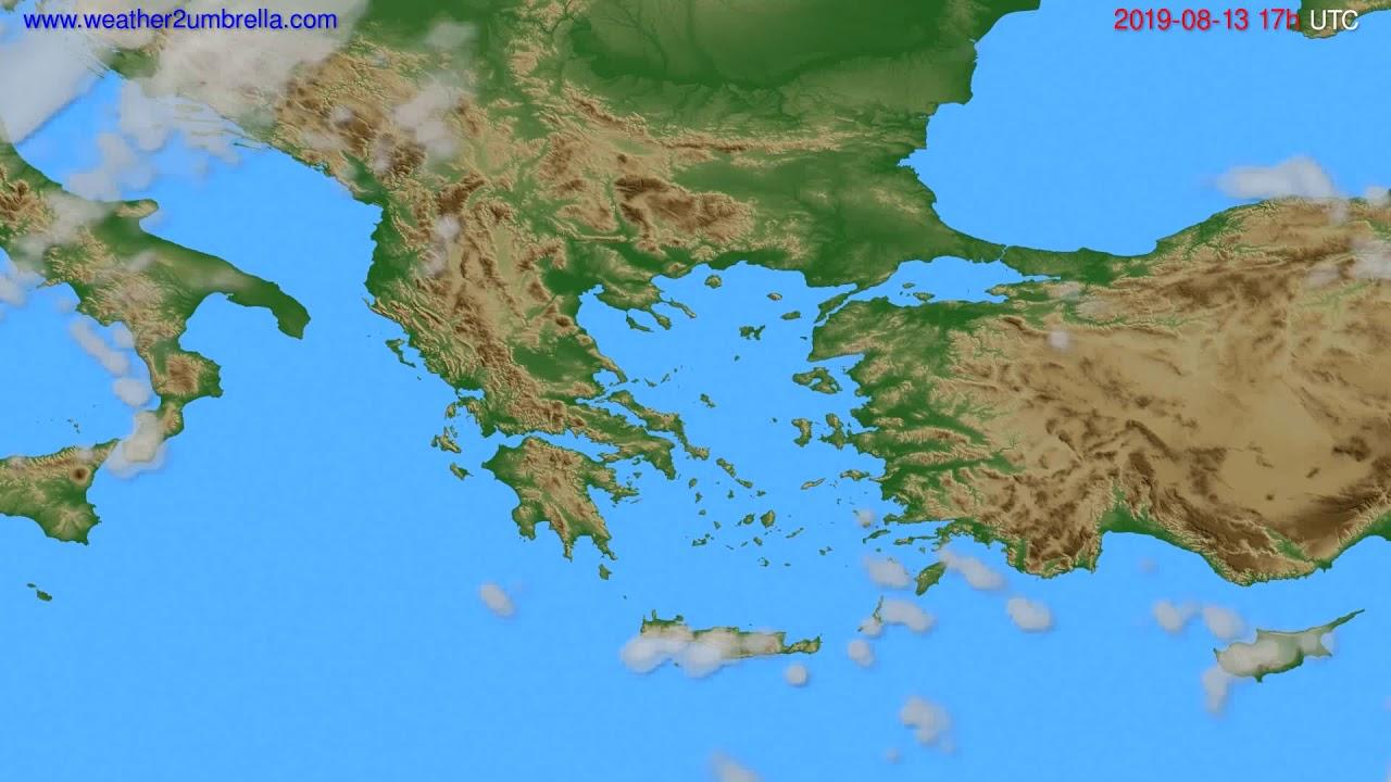 Cloud forecast Greece // modelrun: 00h UTC 2019-08-12