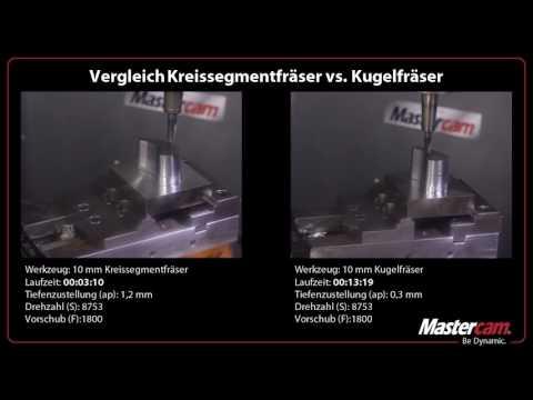 Mastercam unterstützt Kreissegmentfräser – bessere Oberflächen bei kürzeren Zykluszeiten