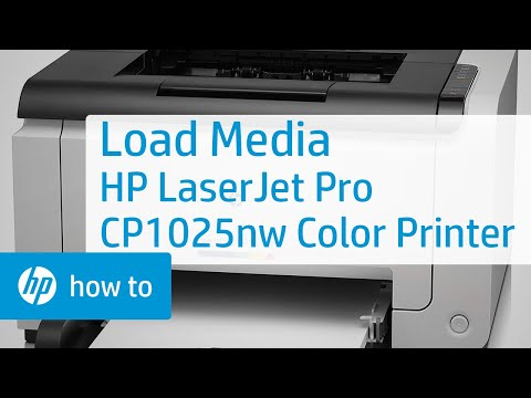 How to Load Media in the HP LaserJet Pro CP1025nw Color Printer