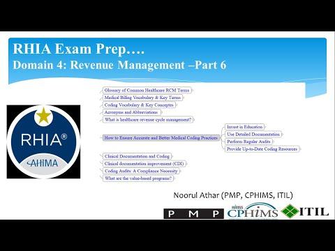 RHIA Exam Prep Domain 4: Revenue Management-Part 6: Ensure ...