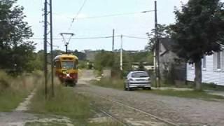 preview picture of video 'Linia tramwajowa 43, Łódź - Lutomiersk, ul. Zielona'