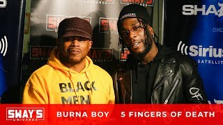 Burna Boy Spits Fire on the 5 Fingers of Death on Sway in the Morning | Sway's Universe
