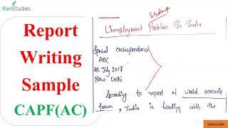 CAPF(AC) 2020 #Sample#Report Written by an Aspirant