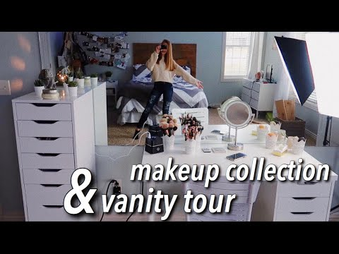 makeup collection/vanity tour | 2019