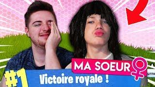 TOP 1 AVEC MA PETITE SOEUR sur FORTNITE BATTLE ROYAL ?!