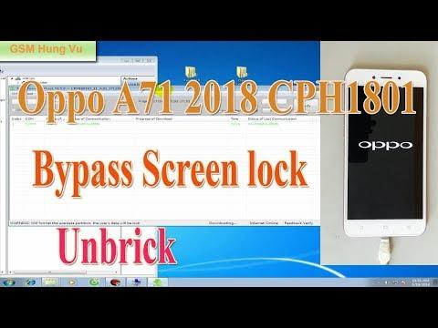 Oppo A71 Cph1801 2018 Downloadtool Working 100 Remove Lock Screen