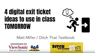 4 Digital Exit Ticket Ideas To Use In Class Tomorrow