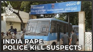 India vet rape and murder: Police shoot dead four suspects