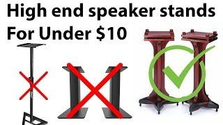 High Performance Speaker Stands for Less than $10 ~ 50 ! EASY !