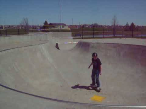 Skating in Prairie Ridge Skatepark in Ankeny Iowa
