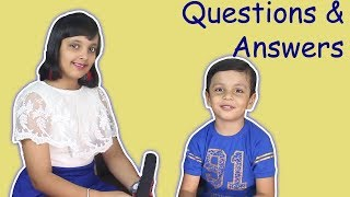 Questions and Answers || Q&A || #Kids #Interview  || Aayu and Pihu Show