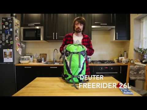 Видео о Рюкзак Deuter Freerider 26 цвет 3356 arctic-petrol 3303217 3356